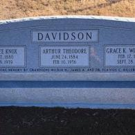 A monument that features 3 names from the grandsons.