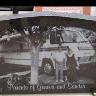 This custom memorial features a full image of the family photo.