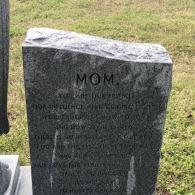 This memorial features a beautiful letter to mom.
