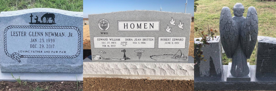 From lovely upright headstones to unique companion monuments, our selection is tailored to your requests.